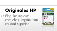 Originales Hewlett Packard. Eleg&iacute; los mejores cartuchos. Imprim&iacute; con calidad superior.