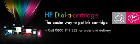 HP Dial-a-cartridge. The easier way to get ink cartridge. Call 0800 1111 222 for order and delivery.