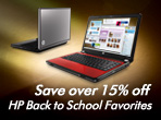 Saver over 15%off HP Back to School Favorites
