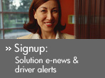 Signup: Solution e-news & driver alerts