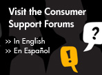 Visit the Consumer Support Forums