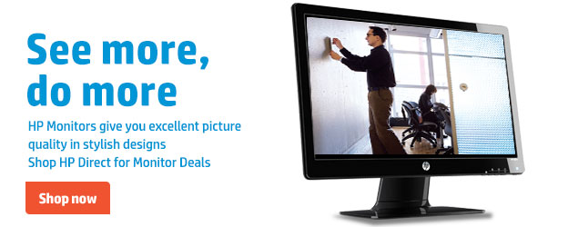 See more, do more. HP Monitors give you excellent picture quality in stylish designs. Shop HP Direct for Monitor Deals. Shop now